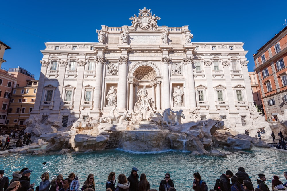 rome attractions the trevi foutain
