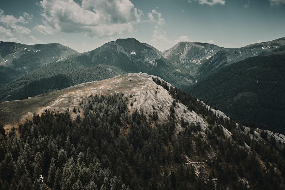 green and mountain range during daytime