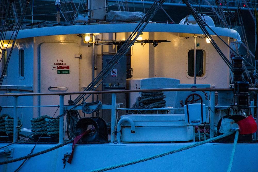 white passenger boat