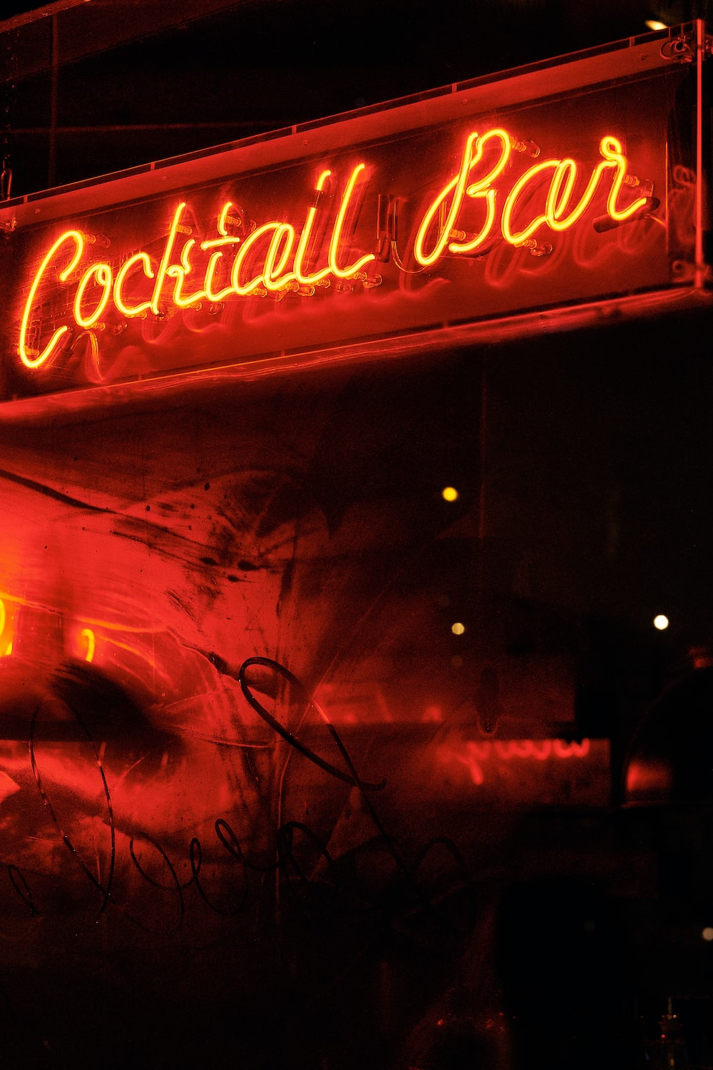 Coctail Bar neon light signage