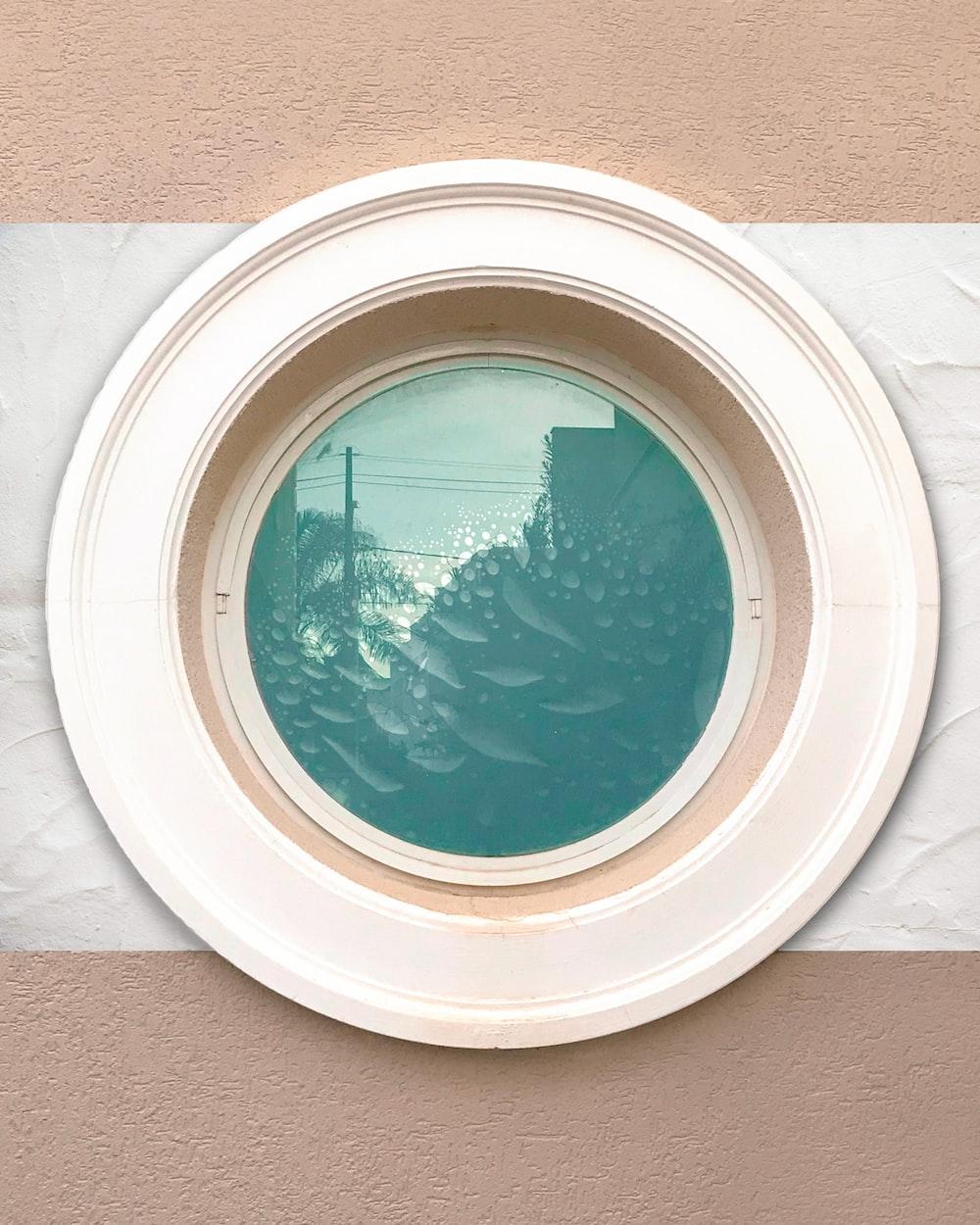 round white ceramic decorative plate