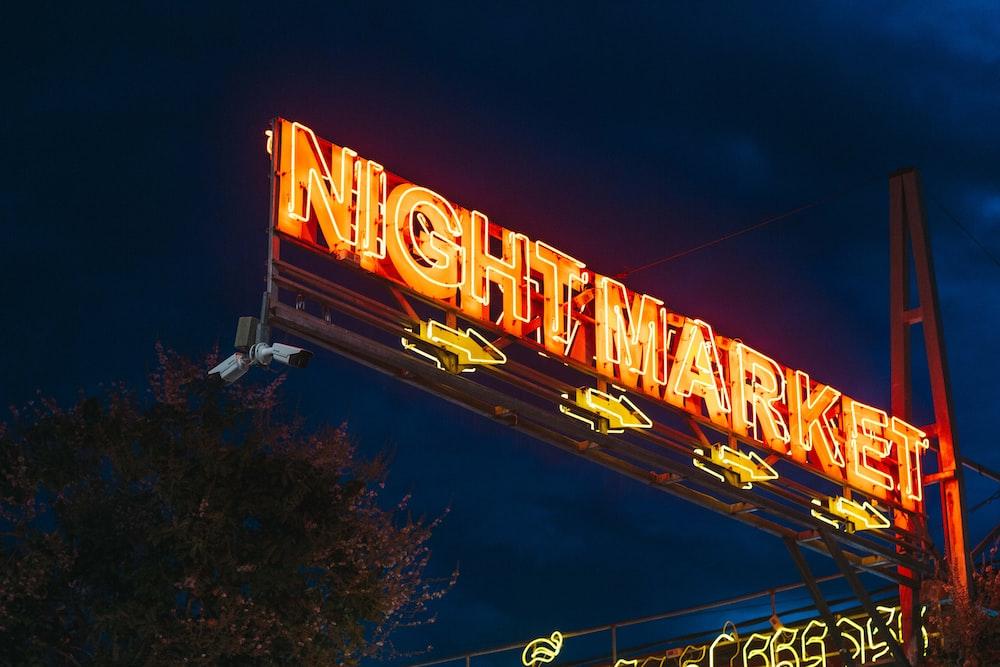 nightmarket lighted neon light sigange