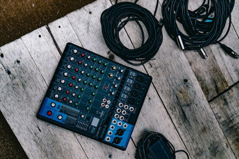 black electronic device