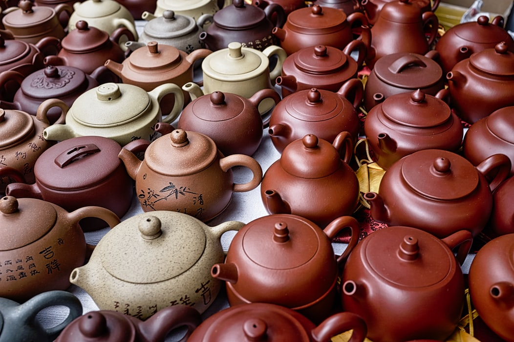 Clay teapots