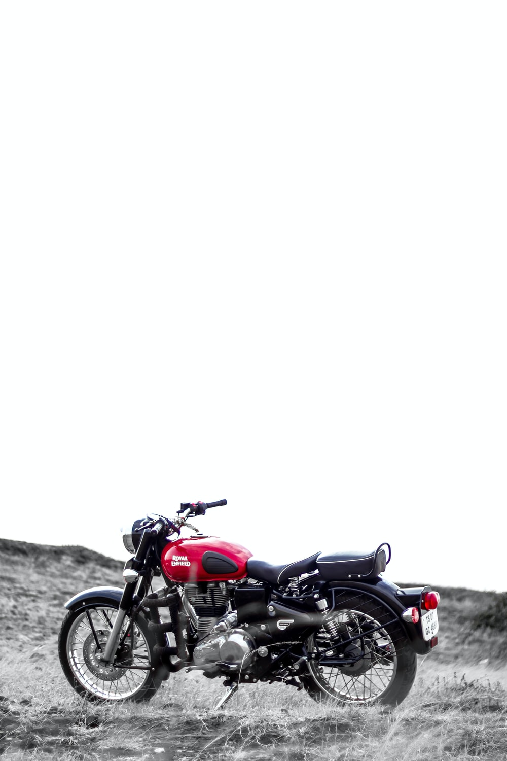 black and red standard motorcycle