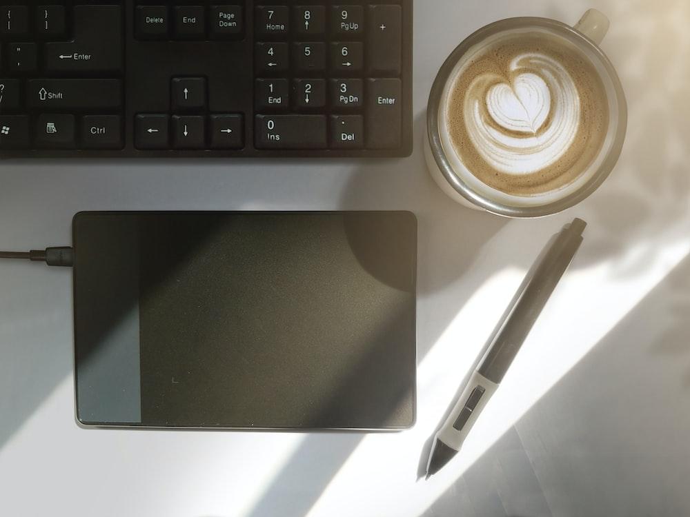 black drawing tablet