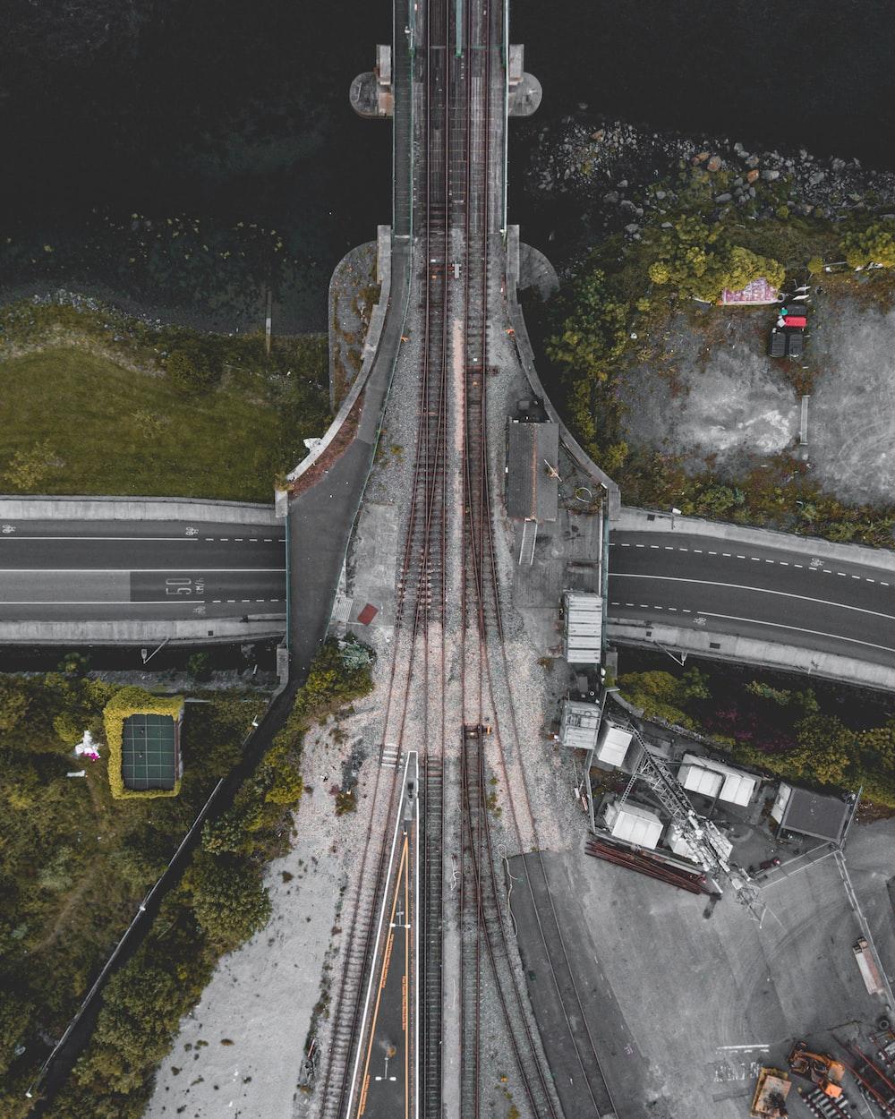 train railway viewing cross bridge