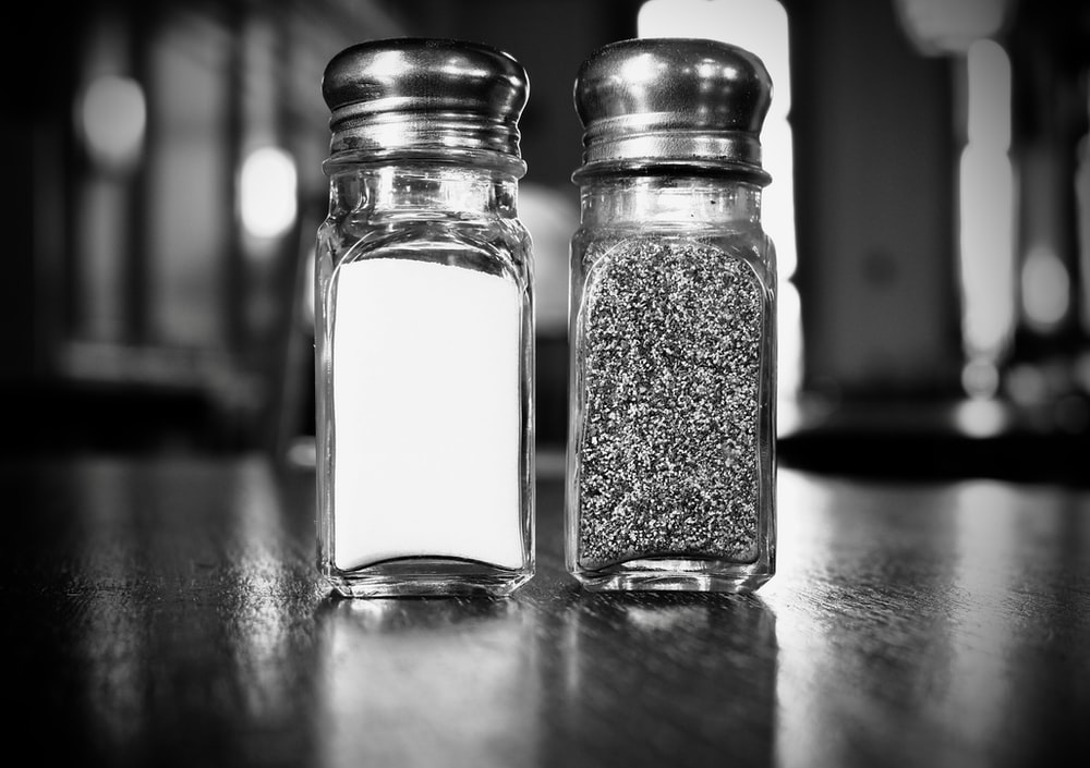 two condiments shakers
