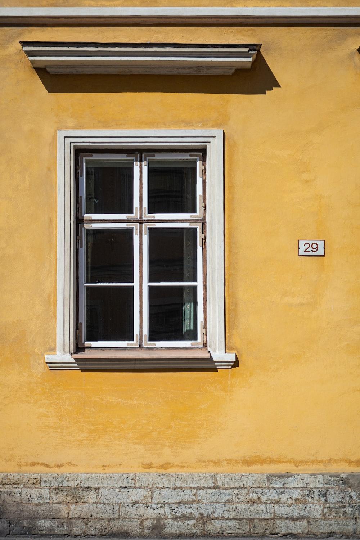 white wooden framed window