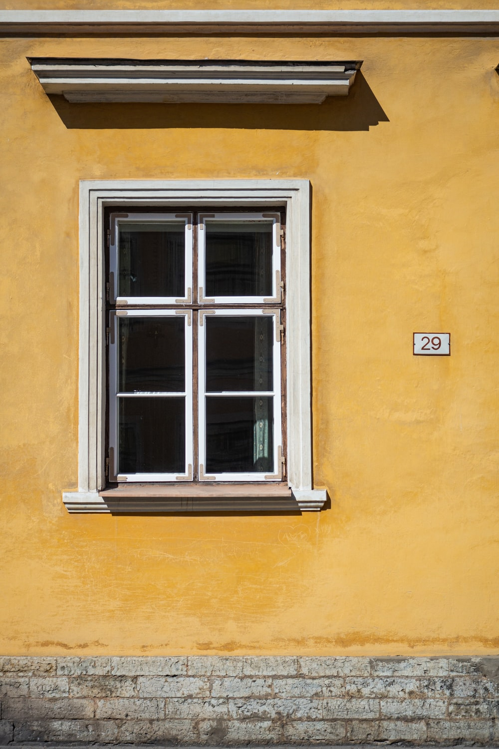 white wooden framed window
