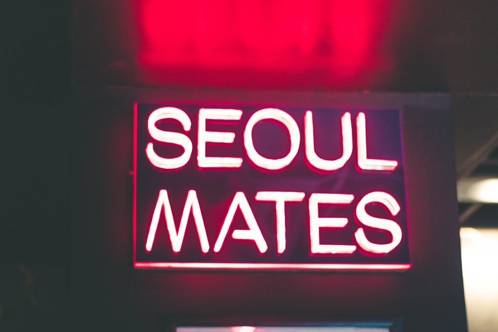 red Seoul Mates neon signage