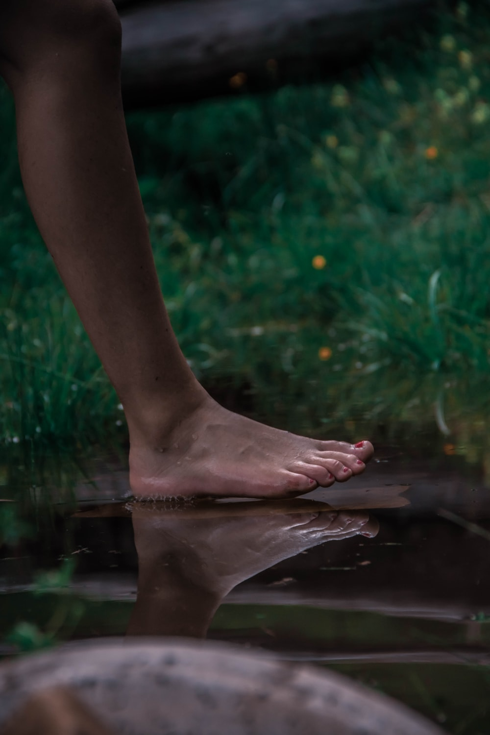 person standing on water