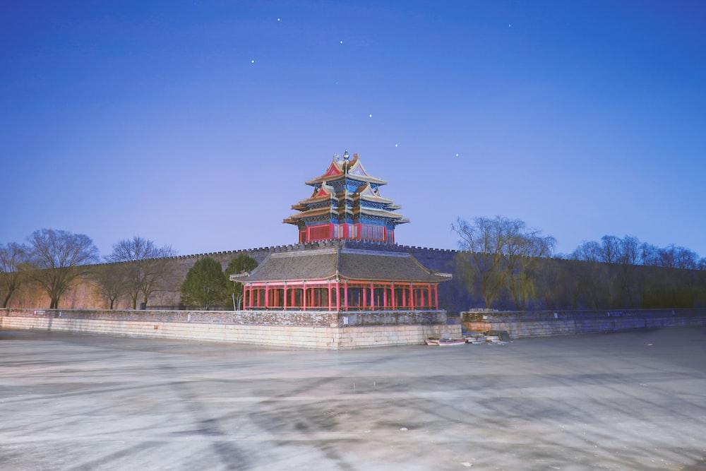 red concrete temple