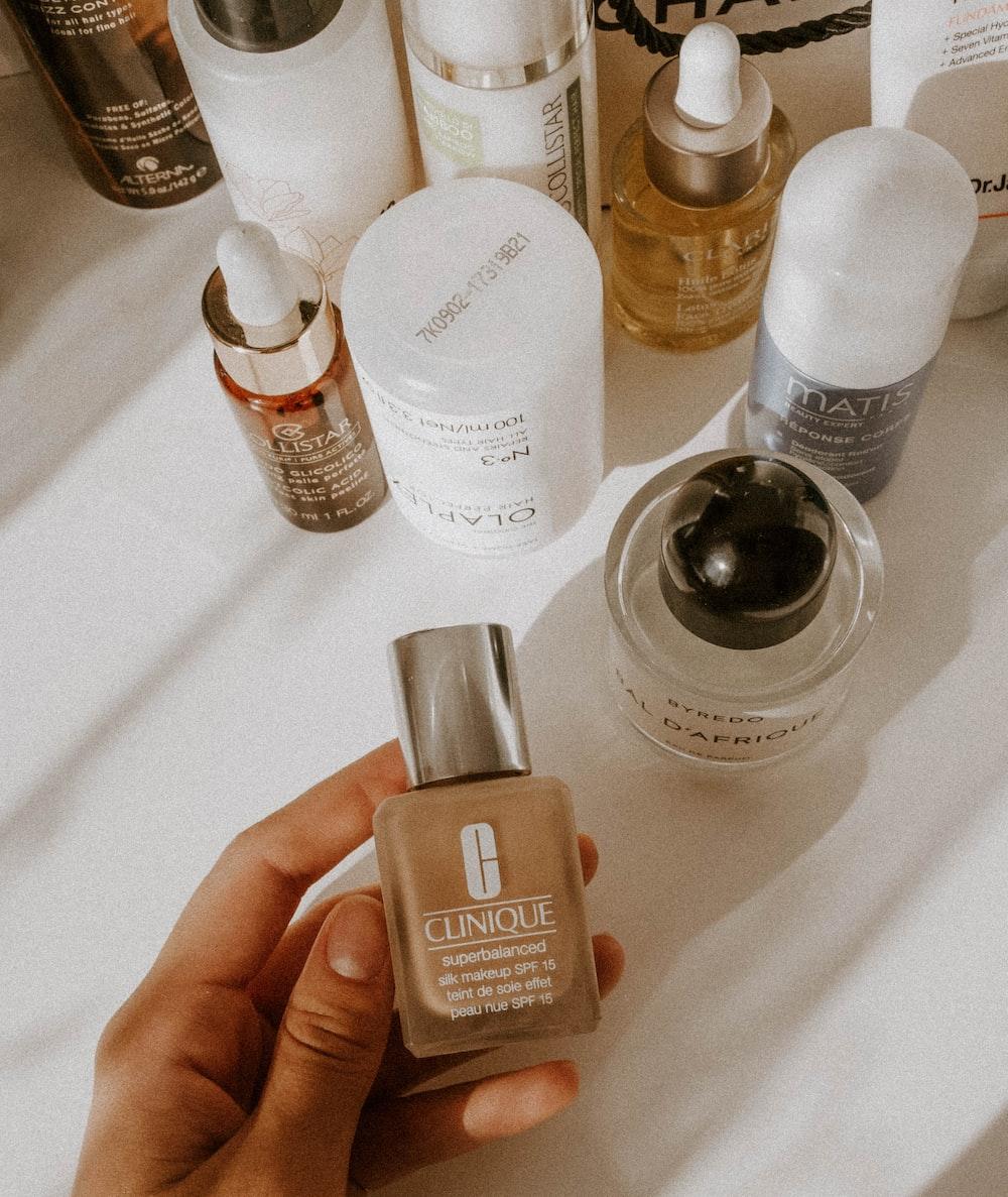Clinique cosmetic bottle