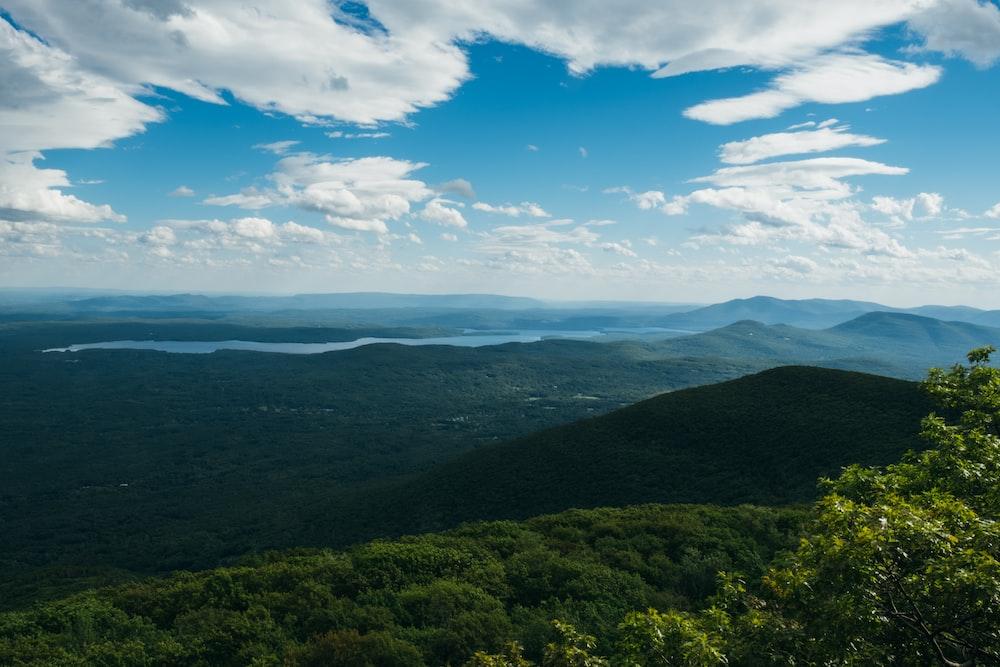 landscape photo of green hills