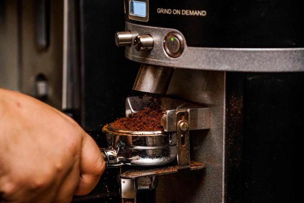 black espresso machine