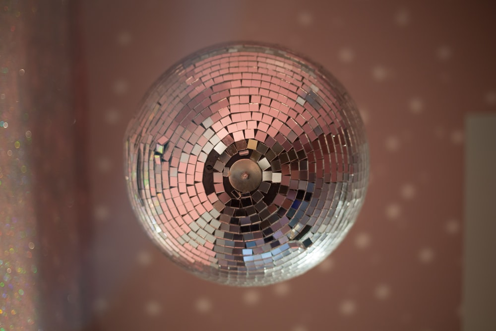 shallow focus photo of disco ball