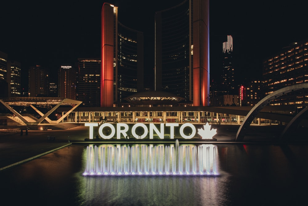 architectural photography of Toronto city hall