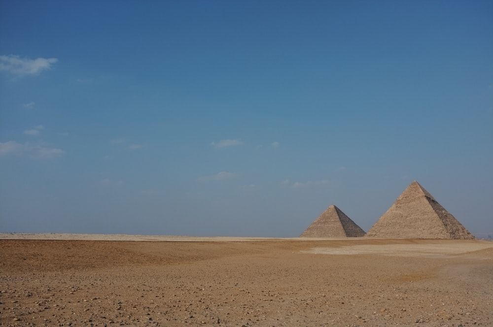 two Pyramids at Egypt during daytime