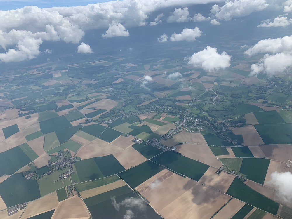 bird's eye view photography of white clouds