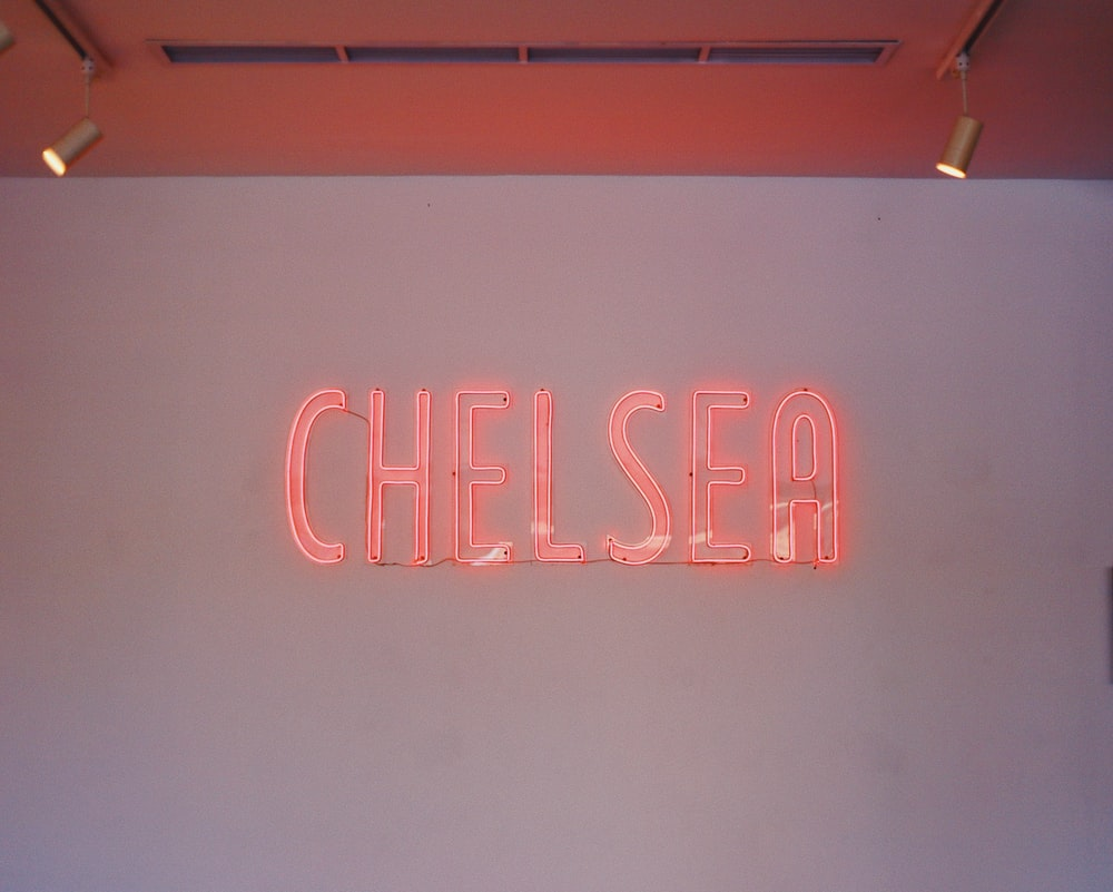 red chelsea signage