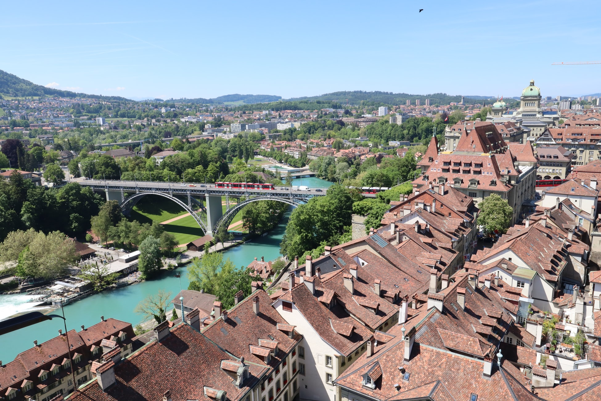 an arial view of Bern