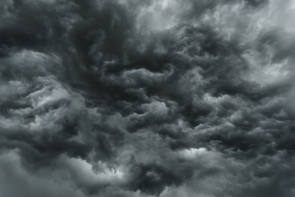 gray clouds