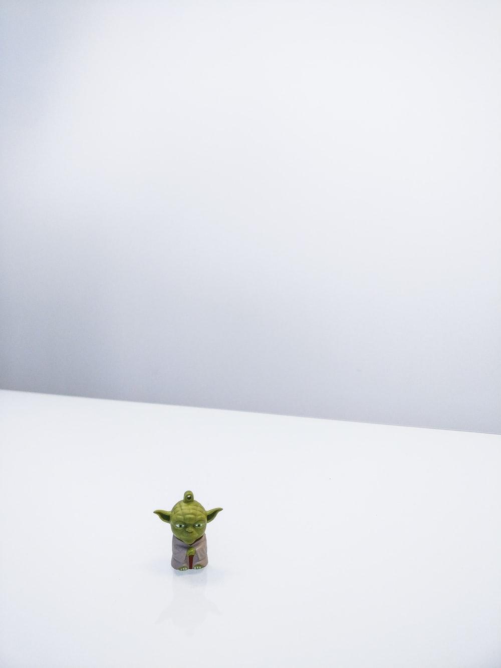 Star Wars Master Yoda minifigure on white surface