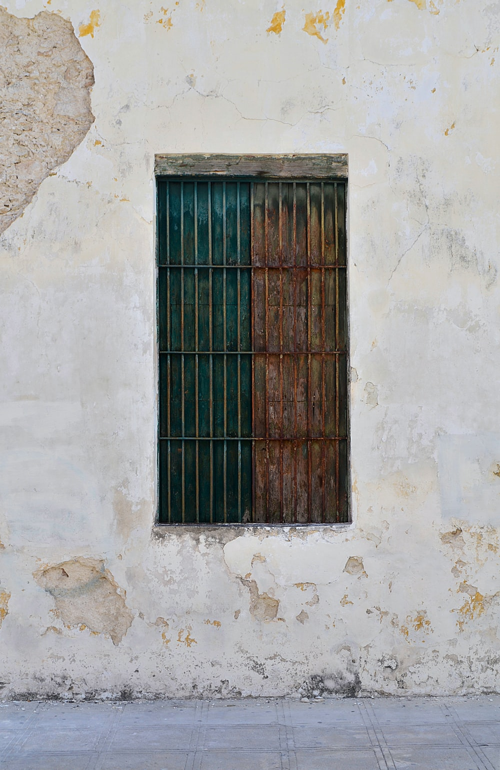 brown metal window