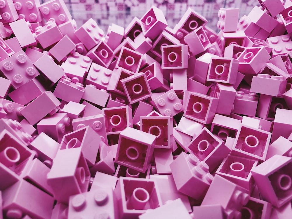 purple block toy