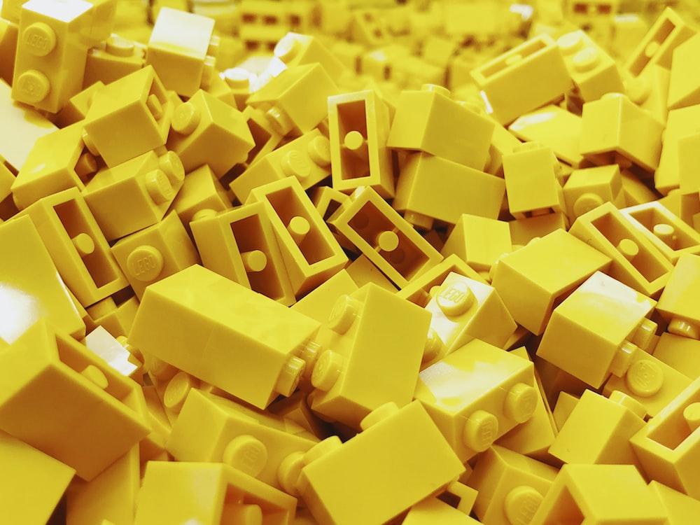 yellow lego block lot