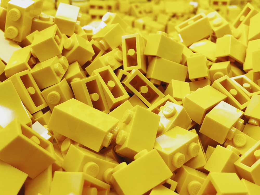 yellow lego block lot