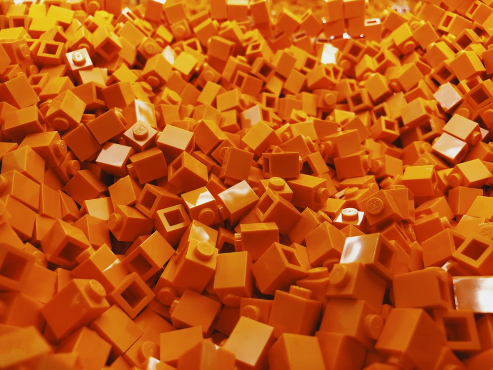 yellow plastic block lot