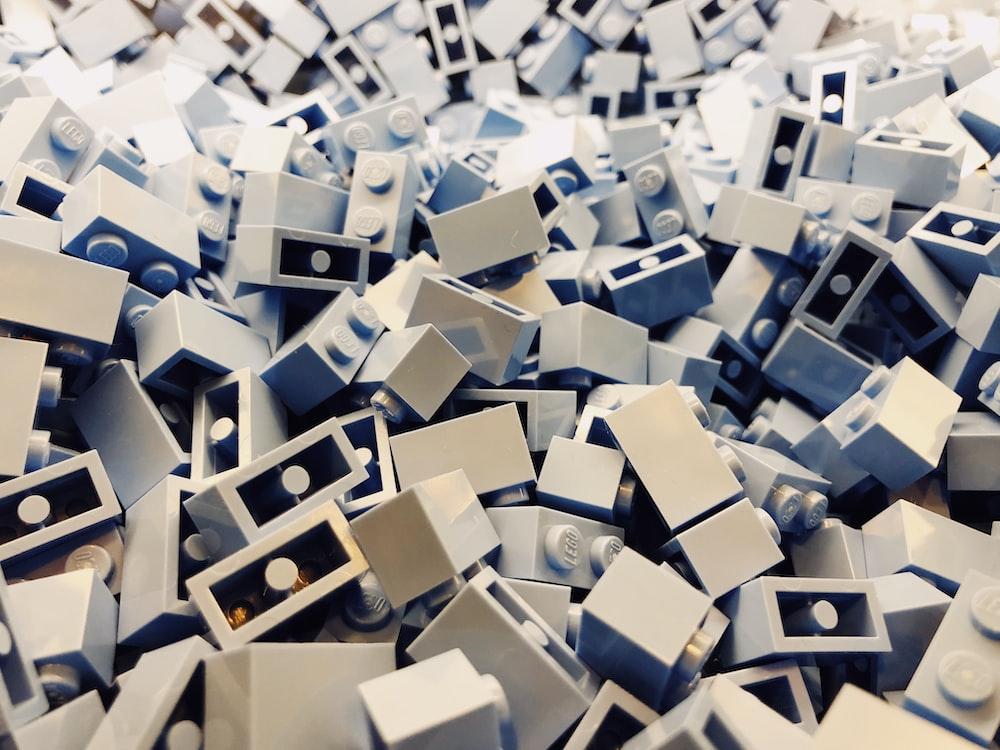assorted building blocks lot