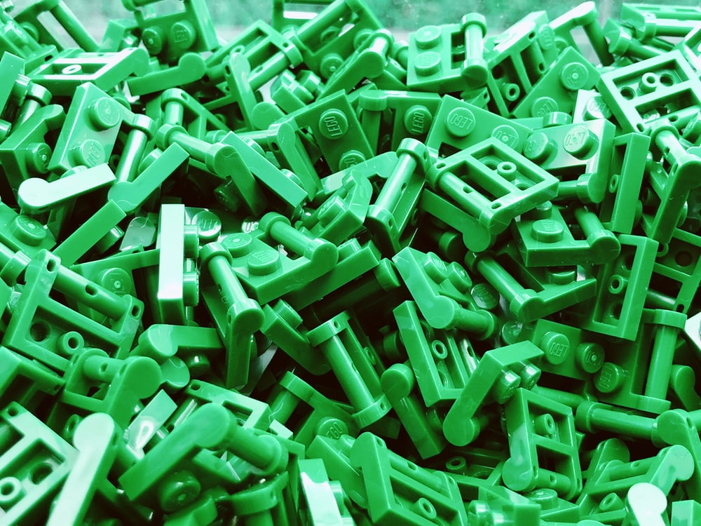green plastic cases
