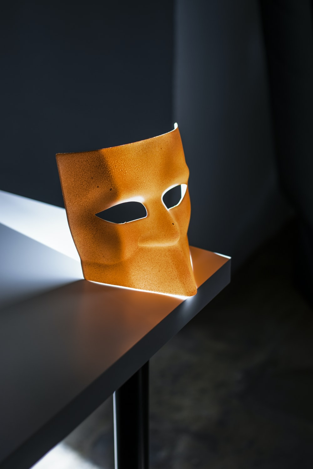 brown opera mask