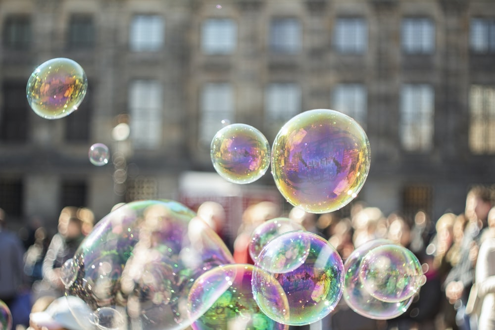 selective focus photo of bubbles
