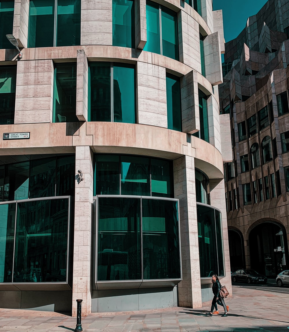 curtain glass wall building