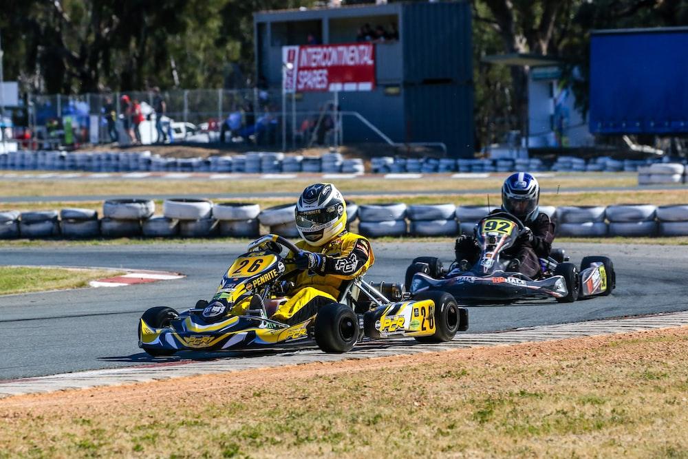 go-kart racing during daytime