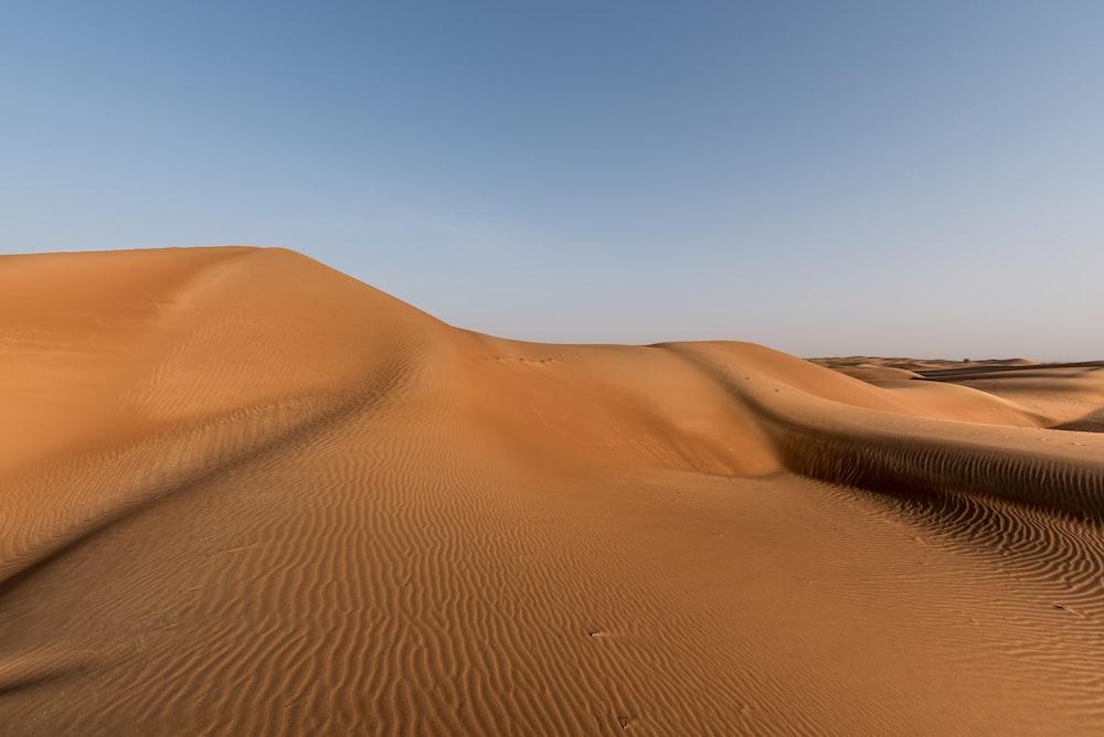 brown sand dune in desert