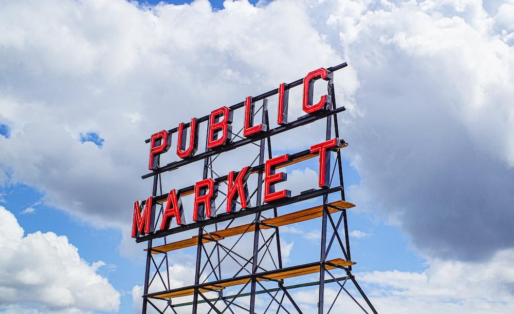 public market signboard