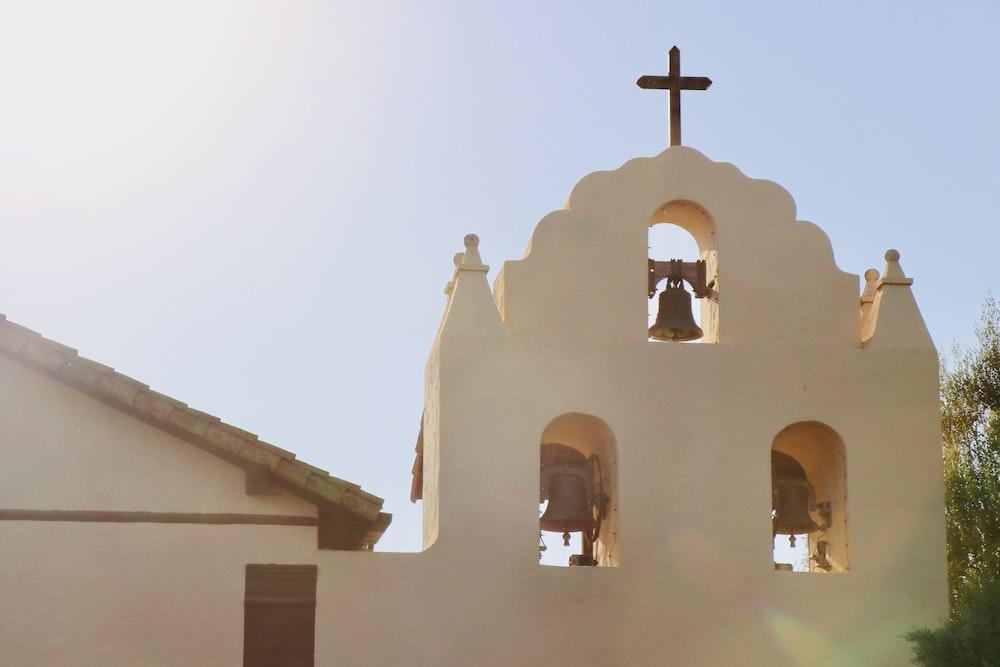 beige church bellfry