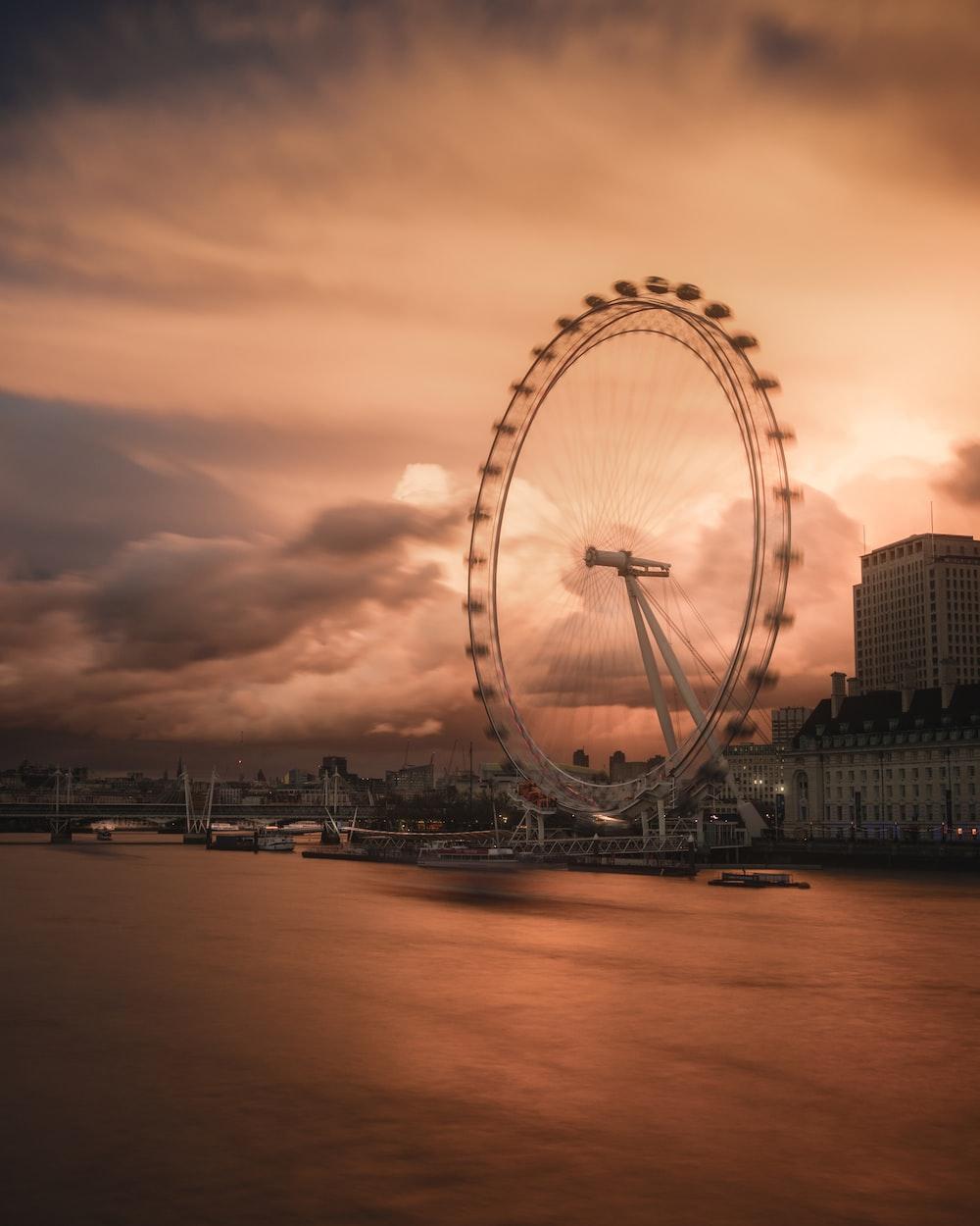 Ferris wheel during golden hour