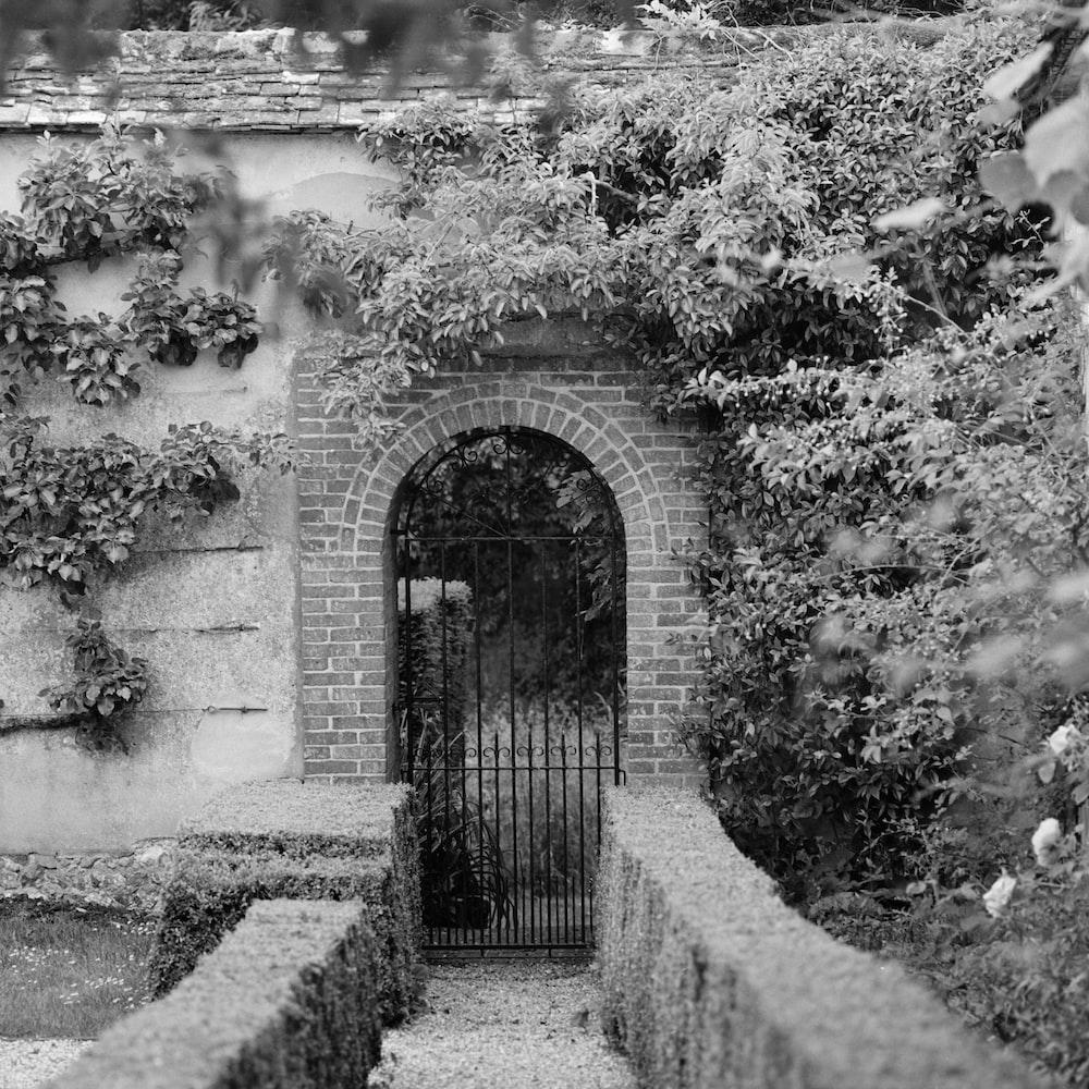 brown brick gate