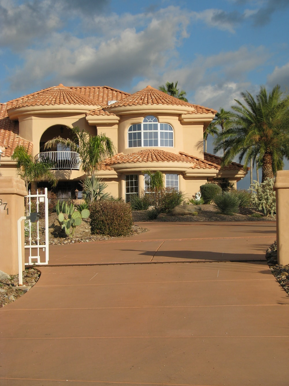 beige painted 2-storey house