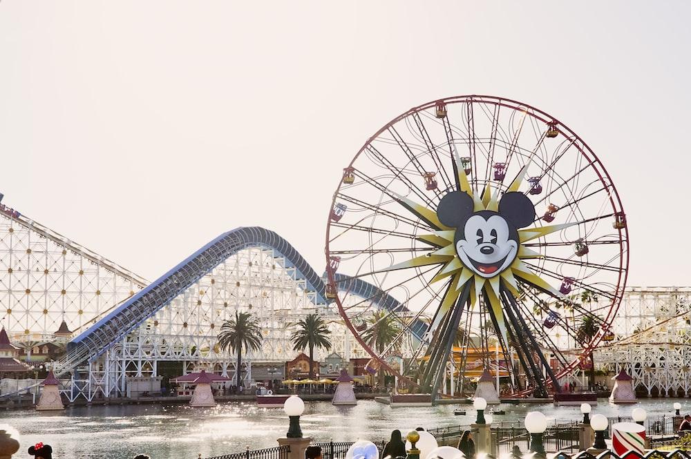 Mickey Mouse Ferris wheel across river