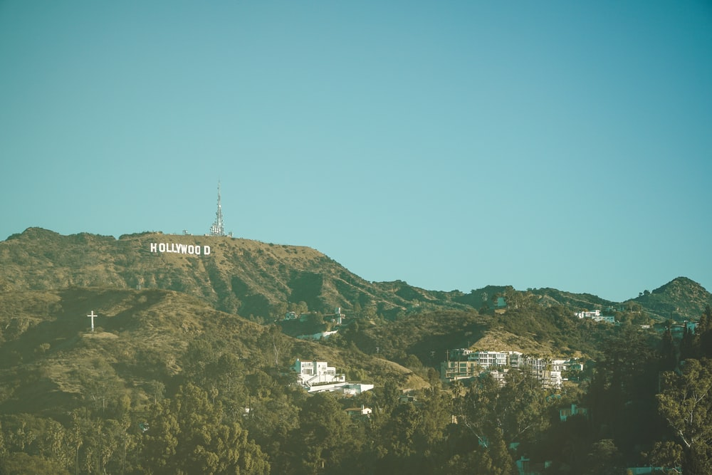 Hollywood sign at the hill