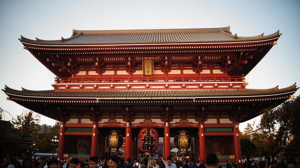 Hozomon temple at Tokyo Japan
