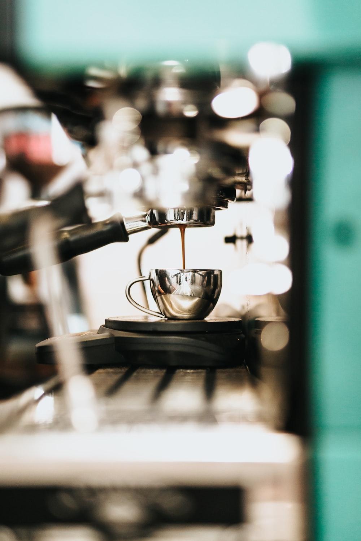 gray espresso machine
