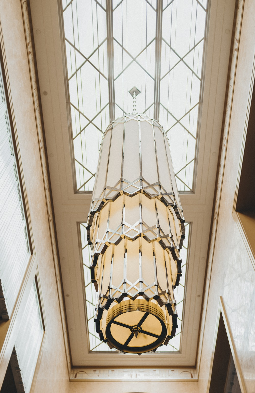 white ceiling pendant lamp